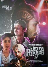UDTA PUNJAB - BOLLYWOOD DVD - Shahid Kapoor, Kareena Kapoor, Alia Bhatt, Diljit.