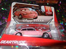 "DISNEY PIXAR CARS ""GEARTRUDE"" Die-Cast Metal, Scale 1:55, Mattel, NEW"