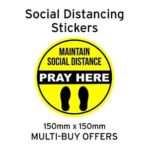 Floor / Wall Decals Stickers Pray Here Social distancing, Mosque, Church etc
