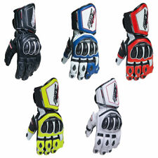 Gloves RST Tractech Race CE White Size UK L/10 for Moto Spare Parts Moped