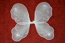 NEW Small white glitter with swirl fairy wings 28x30cm childrens fancy dress