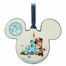 NEW Disney Parks 2019 WDW Mickey Minnie Mouse Ears Castle Ceramic Ornament