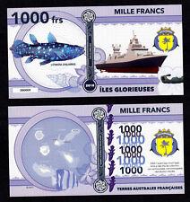 ILES GLORIEUSES ● TAAF / COLONIE ● BILLET POLYMER 1000 FRANCS ★ N.SERIE 000009