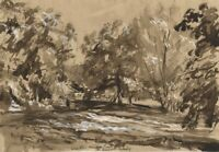 Vernon Wethered NEAC, Weir, Hampton Court, Hereford – Early C20th watercolour