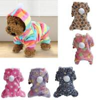 Flannel Dog Jumpsuit Winter Dog Hoodie Small Puppy Coat Outfits Pets Clothes HOT
