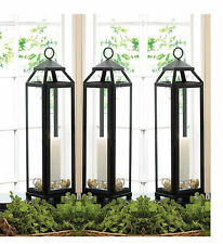 "8 Black 20"" x 5"" Tall Thin slender narrow Malta Candle holder Lantern wedding"