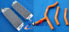 Aluminum radiator & ORANGE HOSE KTM 125/200/250/300 SX/EXC/XC/MXC 98-07 06 05 04