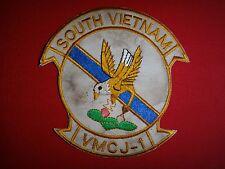 "Vietnam War Patch USMC Marine Composite Recon Squadron VMCJ-1 ""GOLDEN HAWKS"""