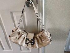 Guess shoulder purse light tan color