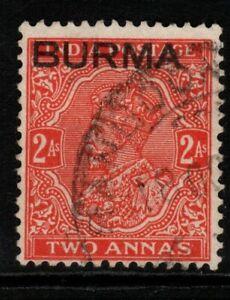 BURMA SG5 1937 2a VERMILION USED