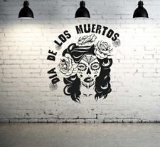 Sugar skull lady dia de los Muertos vinyle Wall Art