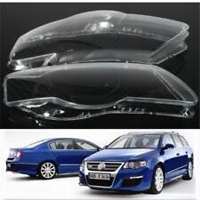 Pair Headlight Lens Cover Plastic Shell Lampshade For VW Passat B6 R36