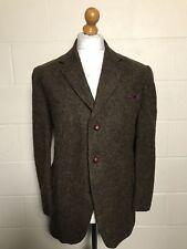 Vintage 1960's Tweed Three Button Heavy Harris Tweed Jacket Size 42