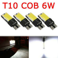4PCS 5W T10 W5W 194 168 LED COB No Error Canbus Side Lamp Wedge Light Bulb White