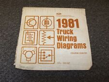 1981 Ford F250 F350 F500 F600 F750 F Series Electrical Wiring Diagram Manual