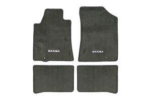 2009-2014 Nissan Maxima Carpeted Floor Mats Front & Rear Set OE NEW 999E2MV030BK