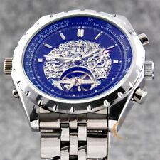Classic Men Automatic Mechanical Watch Skeleton Tourbillon Date Watch Gift Box