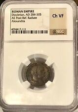 ROMAN EMPIRE DIOCLETIAN 284-305 AD Alexandria Egypt Follis NGC Ch VF