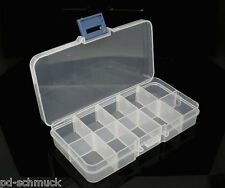 PD: 1 Transparent Sortierbox Perlenbox Dosen 132x72x23mm