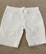 Womens Levis White Shorts Size 30
