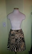 Etcetera corduroy skirt sz 4 animal print, lined above knee Excellent condition!