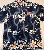 Auburn Tigers Hawaiian Aloha Dress Shirt Mens LICENSED