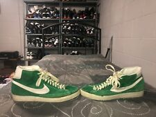 VINTAGE RARE 1970s 1980s Nike Blazer Mens Suede Athletic Shoes Size 13.5 Green