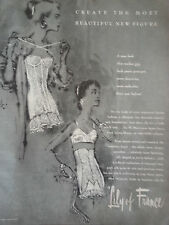 1955 3 Page Lily of France Christian Dior Womens Girdle Original Ad