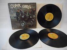 Super Girls 3 LP Girl Groups Compilation 1979 Waner EX Oldies Motown Lowrider