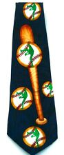 New!! Sports Baseball Bat Ball Green Player Men's Necktie Neck Tie Renaissance