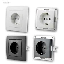 Unterputz Schutzkontakt-Steckdosen FLAIR-Serie weiß matt, für UP-Dose, 230V/16A