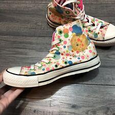 aba42f8ac234 Womens Multicoloured Neon Polka Dot All Star Authentic Converse Trainers -  RARE