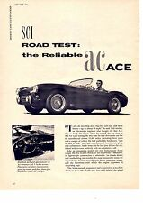 1956 A.C. ACE  ~   ORIGINAL 5-PAGE ROAD TEST / AD