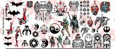 1/6 Scale Custom Tattoos: Star Wars and Movie pack - Waterslide Decals