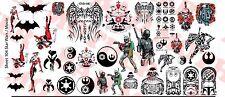 1/6 Scale Custom Tattoos: Star Wars and Movie pack - Waterslide Decals