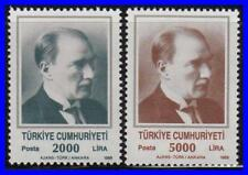 TURKEY 1989 ATATURK SC#2447-48 MNH CV$10.00 MILITARY