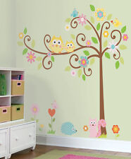 X-Large Owl Art Decal Removable Non-Marking Vinyl Nursery Wall Sticker Kids Baby