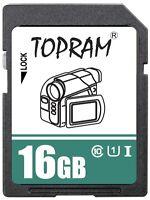 TOPRAM 16GB 16G SDHC USH U1 class10 C10 SD 3.0 secure digital memory card bulk