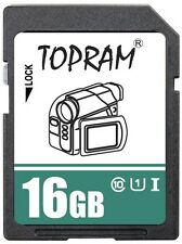 TOPRAM 16GB 16G SDHC USH U1 class10 C10 SD 3.0 secure digital memory card bulk