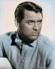 """CARY GRANT TALK of the TOWN 1942 HOLLYWOOD ACTOR 8x10"""" HAND COLOR TINTED PHOTO"""