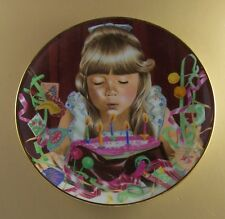 Magic Moments of Childhood Birthday Wish Danbury Mint Plate Party Candles