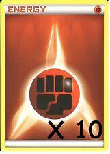 10 X POKEMON FIGHTING ENERGY CARDS - NEW - UNUSED (10 Cards)