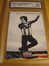 SCOTT HAMILTON FIGURE SKATING 2012 PANINI AMERICANA  # 77 GRADED 10   L@@@K