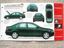 Audi A4 2.8 QUATTRO IMP Brochure: 1998,1997,1996