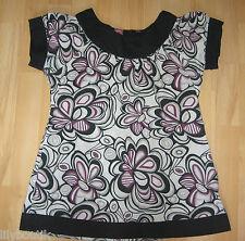 Bilook ♥ Tunique chemise col rond motifs violets MC ♥ 12 ans - TBE !!