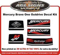 Mercury Bravo One X Outdrive 5 piece Reproduction Decal Kit   Mercruiser