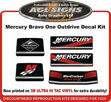 Mercury Bravo One X Outdrive 5 piece Reproduction Decal Kit   Mercruiser