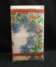 8 Vintage Boxed Floral Handkerchiefs Never Opened Made in the USA