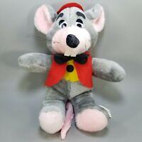 "Rare Vtg 1988 ShowBiz Pizza Time CHUCK E. CHEESE 15"" Stuffed Plush Doll Mouse"