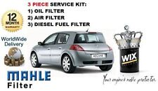 Para Renault Megane 1.5 Dci Diesel 2002-05/2005 Aceite Aire Filtro De Combustible Kit De Servicio